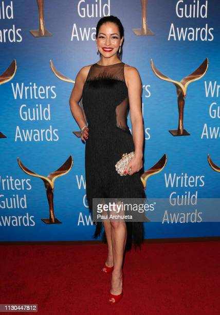 Actress Emmanuelle Vaugier attends the 2019 Writers Guild Awards LA ceremony at The Beverly Hilton Hotel on February 17 2019 in Beverly Hills...