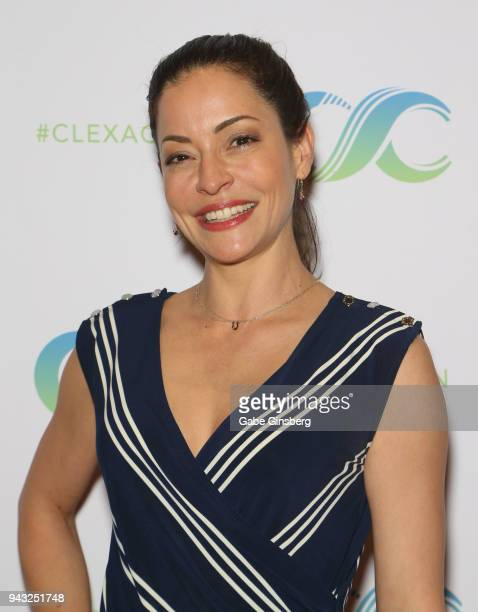 Actress Emmanuelle Vaugier attends the Cocktails for Change fundraiser hosted by ClexaCon to benefit Cyndi Lauper's True Colors Fund at the Tropicana...