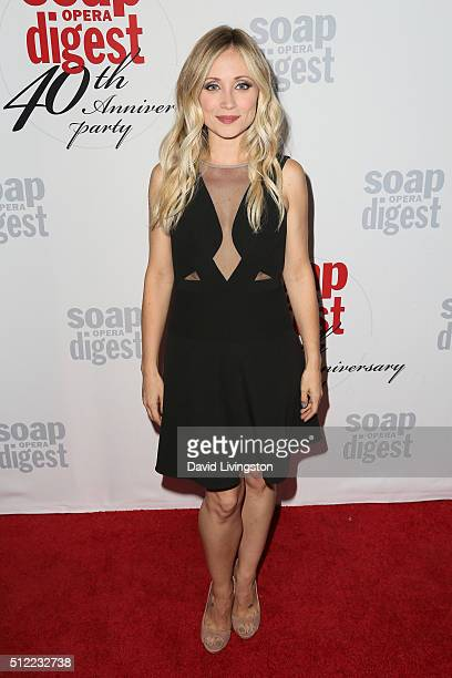 Actress Emme Rylan arrives at the 40th Anniversary of the Soap Opera Digest at The Argyle on February 24 2016 in Hollywood California