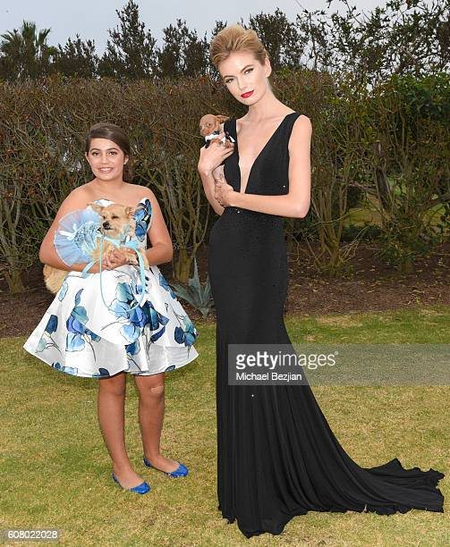 Actress Emmy Perry and model Becky Billman attend All About the Animals Homeless to Haute Gala at Monarch Beach Resort on September 18, 2016 in Dana...
