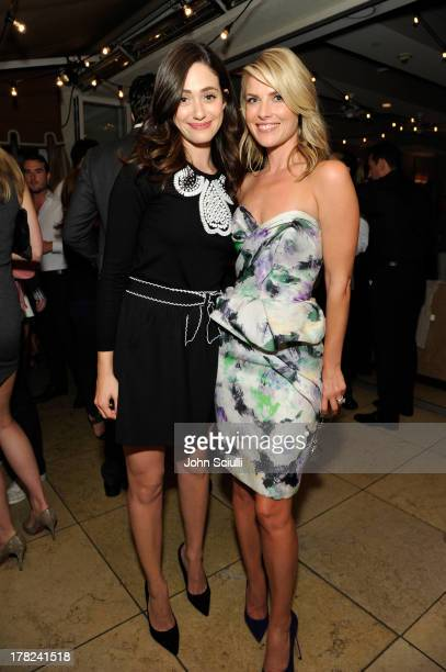 Actress Emmy Rossum and Ali Larter celebrate the release of Ali Larter's new cookbook 'Kitchen Revelry' with PerrierJouet at Sunset Tower on August...