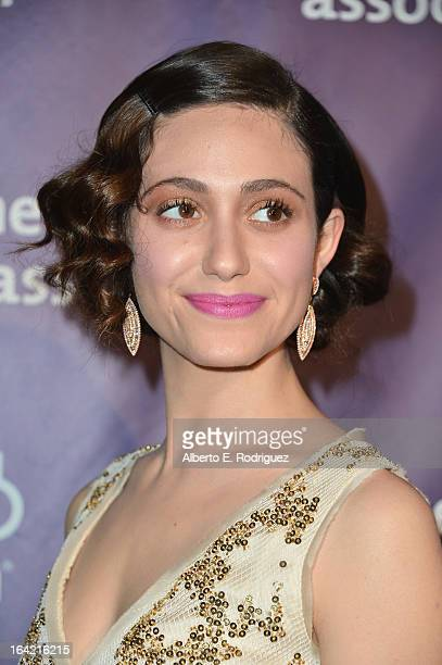 Actress Emmy Rossum arrives at 21st Annual 'A Night At Sardi's' gala benefiting the Alzheimer's Association Arrivals at The Beverly Hilton Hotel on...