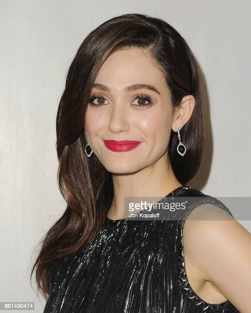 Actress Emmy Rossum arrives at Bottega Veneta Hosts Hammer Museum Gala In The Garden on October 14 2017 in Westwood California