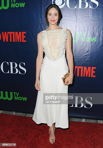 Actress Emmy Rossum arrives at CBS CW And Showtime 2015 Summer TCA Party at Pacific Design Center on August 10 2015 in West Hollywood California