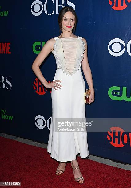 Actress Emmy Rossum arrives at CBS, CW And Showtime 2015 Summer TCA Party at Pacific Design Center on August 10, 2015 in West Hollywood, California.