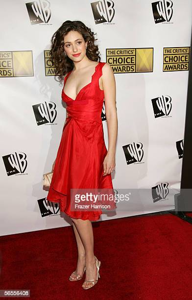 Actress Emmy Rossum arrives at the 11th Annual Critics' Choice Awards held at the Santa Monica Civic Auditorium on January 9, 2006 in Santa Monica,...