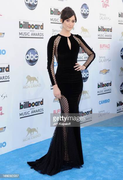 Actress Emmy Rossum arrives at the 2013 Billboard Music Awards at MGM Grand Hotel Casino on May 19 2013 in Las Vegas Nevada