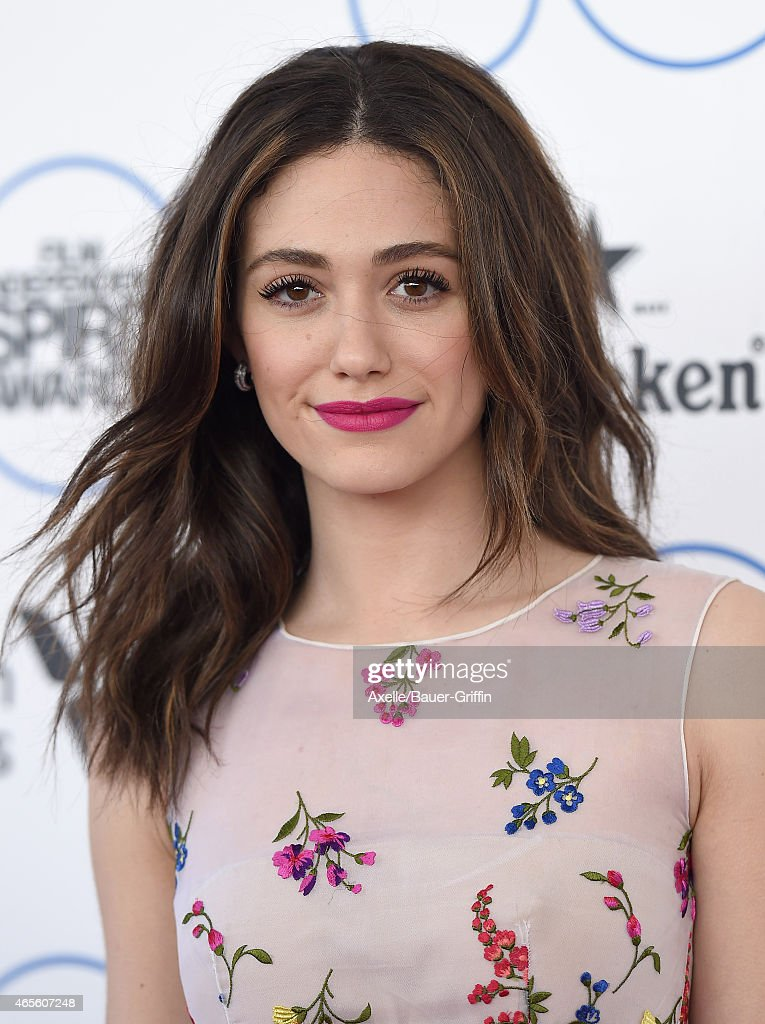 Actress Emmy Rossum arrives at the 2015 Film Independent Spirit Awards on February 21, 2015 in Santa Monica, California.