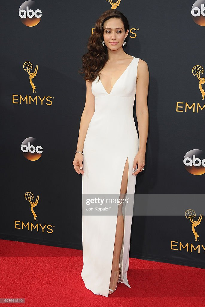 Actress Emmy Rossum arrives at the 68th Annual Primetime Emmy Awards at Microsoft Theater on September 18, 2016 in Los Angeles, California.