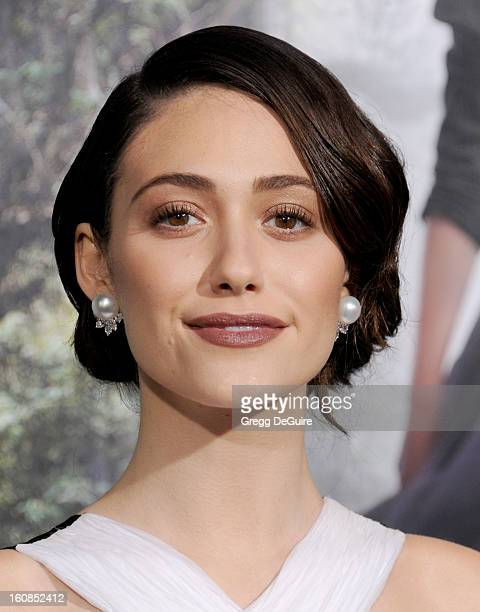 Actress Emmy Rossum arrives at the Los Angeles premiere of Beautiful Creatures at TCL Chinese Theatre on February 6 2013 in Hollywood California