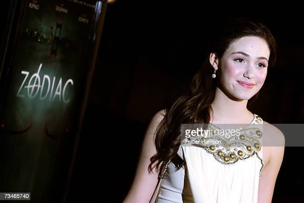 Actress Emmy Rossum arrives at the Paramount Pictures' Premiere Of 'Zodiac' held at Paramount Studios on March 12007 in Los Angeles California