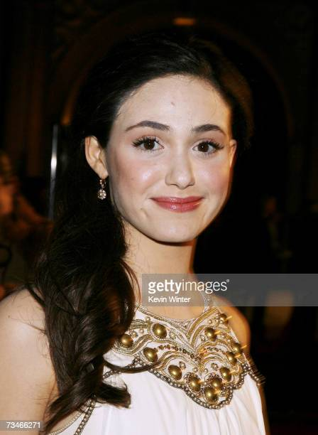 Actress Emmy Rossum arrives at the premiere of Paramount Picture's 'Zodiac' at the Paramount Theatre on March 1 2007 in Los Angeles California