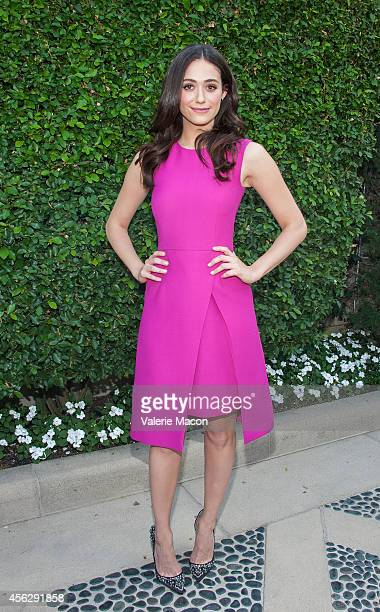 Actress Emmy Rossum arrives at The Rape Foundation's Annual Brunchat Greenacres The Private Estate of Ron Burkle on September 28 2014 in Beverly...