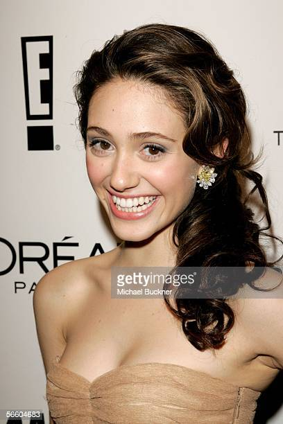 Actress Emmy Rossum arrives at the Weinstein Co Golden Globe after party held at Trader Vic's on January 16 2006 in Beverly Hills California