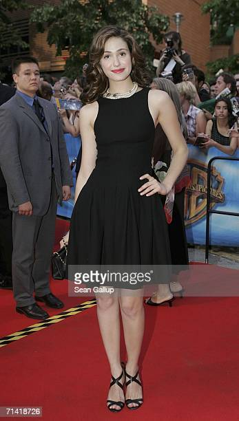 """Actress Emmy Rossum arrives for the German premiere of """"Poseidon"""" July 11, 2006 at the Berlinale Palast in Berlin, Germany."""