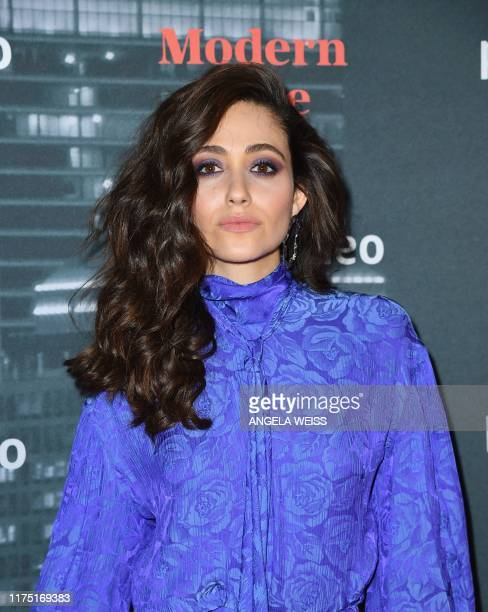 US actress Emmy Rossum attends Amazon Prime Video's 'Modern Love' premiere reception at the Museum of Modern Love on October 10 2019 in New York City