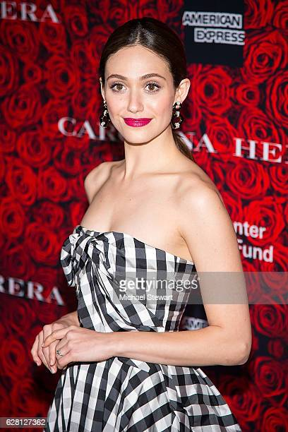 Actress Emmy Rossum attends an evening honoring Carolina Herrera at Alice Tully Hall at Lincoln Center on December 6 2016 in New York City