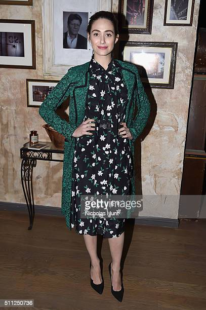 Actress Emmy Rossum attends as Harvey Weinstein hosts a celebration for Forest Whitaker in Eugene O'Neill's 'Hughie' at Elyx House NYC on February 18...