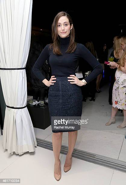 Actress Emmy Rossum attends Carbon38 Second anniversary party at a private Hollywood Hills home on January 17 2015 in Hollywood California