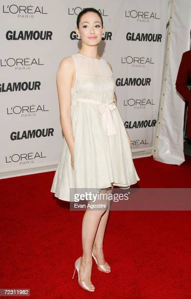 Actress Emmy Rossum attends Glamour Magazine's 'Glamour Women Of The Year Awards 2006' at Carnegie Hall October 30 2006 in New York City