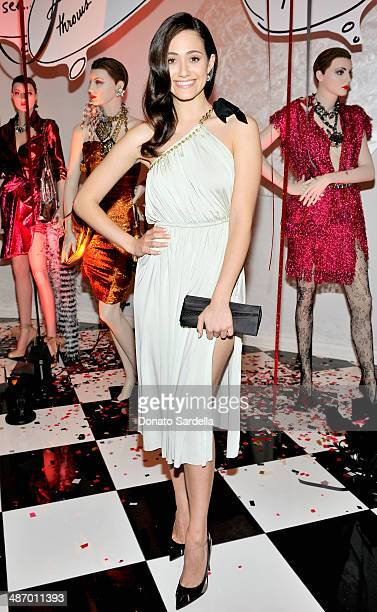 Actress Emmy Rossum attends Lanvin And Living Beauty Host An Evening Of Fashion on April 26 2014 in Beverly Hills California