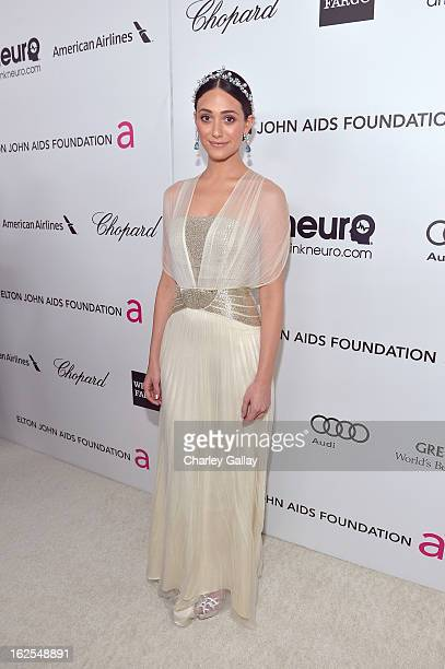 Actress Emmy Rossum attends Neuro at 21st Annual Elton John AIDS Foundation Academy Awards Viewing Party at West Hollywood Park on February 24 2013...