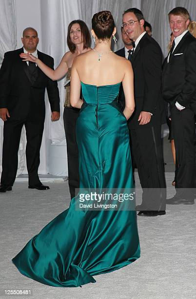 Actress Emmy Rossum attends LA Opera's White Night season opening gala premiere of Eugene Onegin at the Dorothy Chandler Pavilion on September 17...