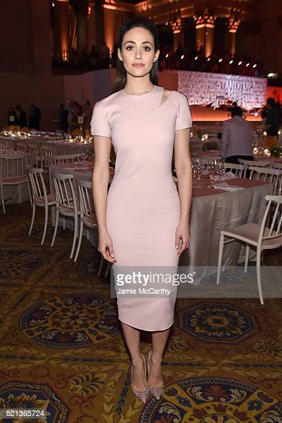 Actress Emmy Rossum attends Stand Up To Cancer's New York Standing Room Only presented by Entertainment Industry Foundation with donors American...