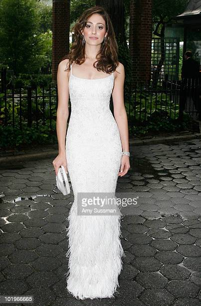Actress Emmy Rossum attends the 2010 Wildlife Conservation Society gala at the Central Park Zoo on June 10 2010 in New York City