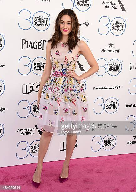 Actress Emmy Rossum attends the 2015 Film Independent Spirit Awards at Santa Monica Beach on February 21 2015 in Santa Monica California