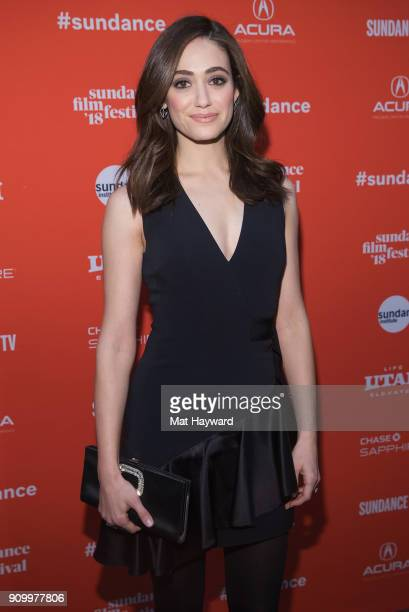 Actress Emmy Rossum attends the 2018 Sundance Film Festival premiere of Netflixs film A Futile And Stupid Gesture at Eccles Center Theatre on January...
