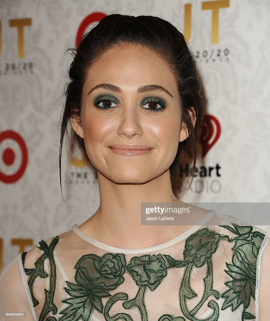 Actress Emmy Rossum attends the '20/20' album release party with Justin Timberlake at El Rey Theatre on March 18, 2013 in Los Angeles, California.