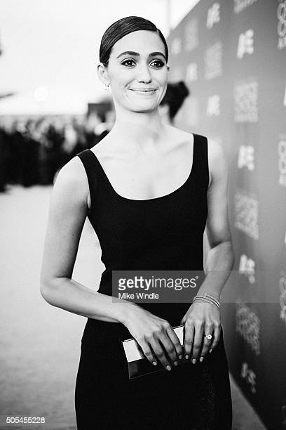 Actress Emmy Rossum attends the 21st annual Critics' Choice Awards at Barker Hangar on on January 17 2016 in Santa Monica California