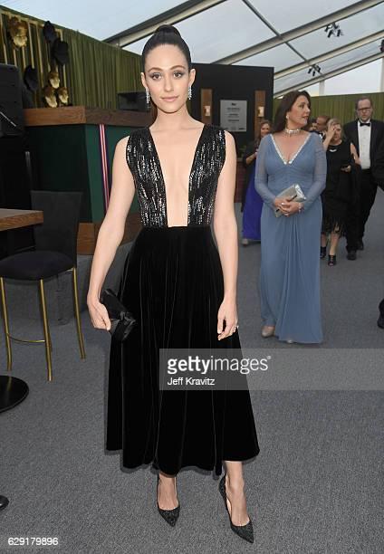 Actress Emmy Rossum attends The 22nd Annual Critics' Choice Awards at Barker Hangar on December 11, 2016 in Santa Monica, California.