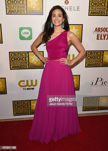 Actress Emmy Rossum attends the 4th Annual Critics' Choice Television Awards at The Beverly Hilton Hotel on June 19 2014 in Beverly Hills California