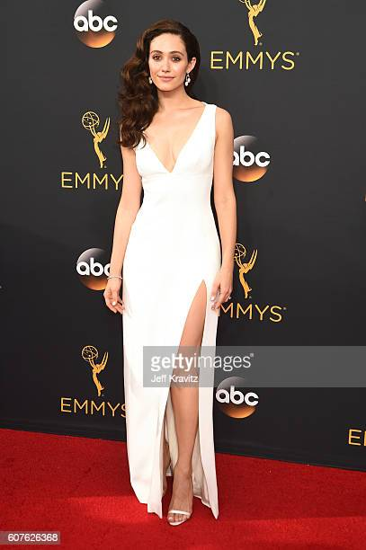 Actress Emmy Rossum attends the 68th Annual Primetime Emmy Awards at Microsoft Theater on September 18 2016 in Los Angeles California