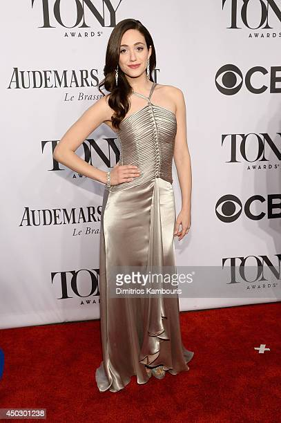 Actress Emmy Rossum attends the 68th Annual Tony Awards at Radio City Music Hall on June 8 2014 in New York City