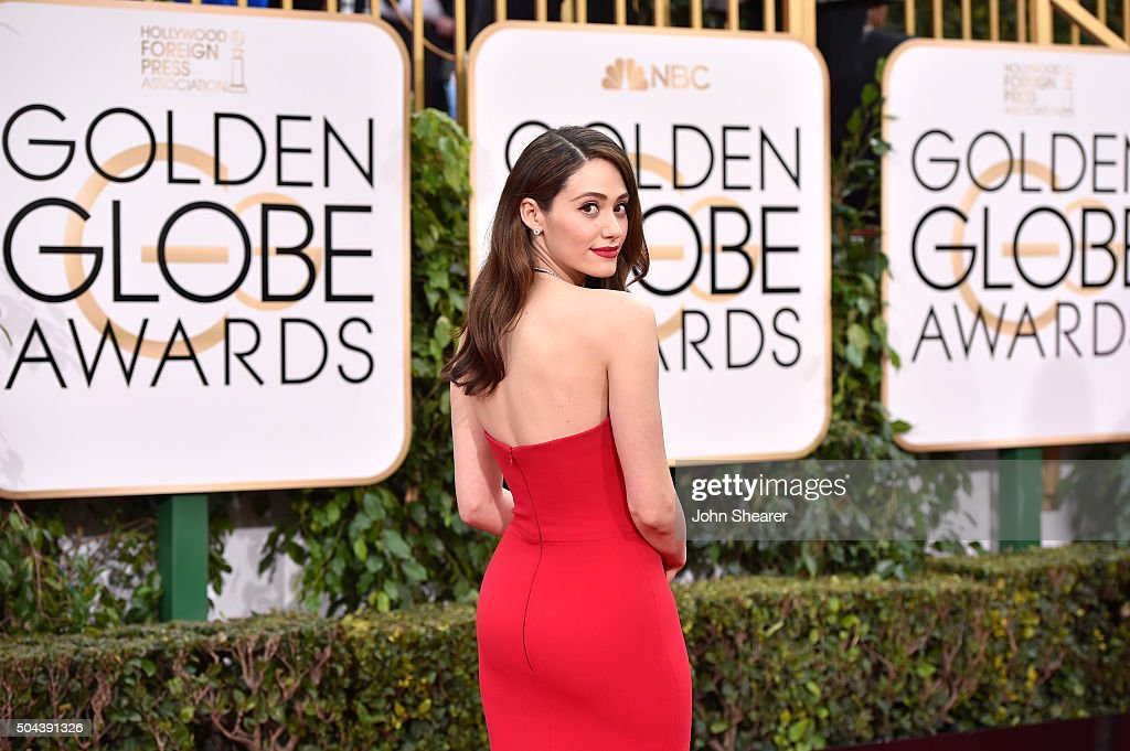 Actress Emmy Rossum attends the 73rd Annual Golden Globe Awards held at the Beverly Hilton Hotel on January 10, 2016 in Beverly Hills, California.