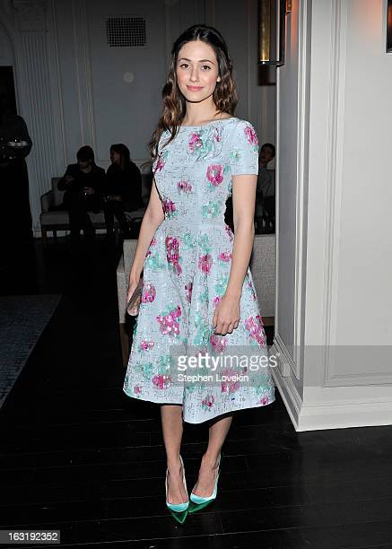 Actress Emmy Rossum attends the after party for the Gucci and The Cinema Society screening of Oz the Great and Powerful at Harlow on March 5 2013 in...