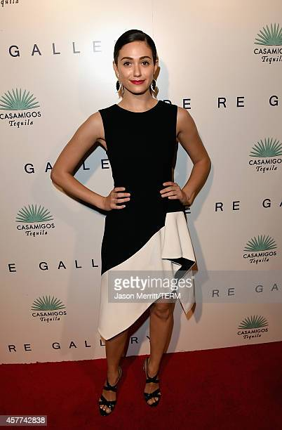 Actress Emmy Rossum attends the Brian Bowen Smith WILDLIFE show hosted by Casamigos Tequila at De Re Gallery on October 23 2014 in West Hollywood...