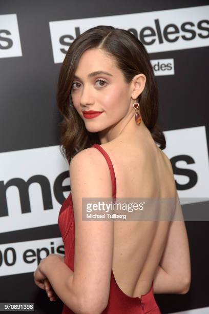 Actress Emmy Rossum attends the celebration of the 100th episode of Showtime's 'Shameless' at DREAM Hollywood on June 9 2018 in Hollywood California
