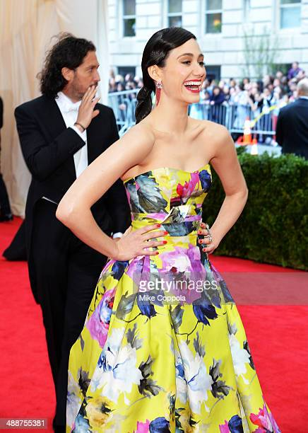 Actress Emmy Rossum attends the Charles James Beyond Fashion Costume Institute Gala at the Metropolitan Museum of Art on May 5 2014 in New York City