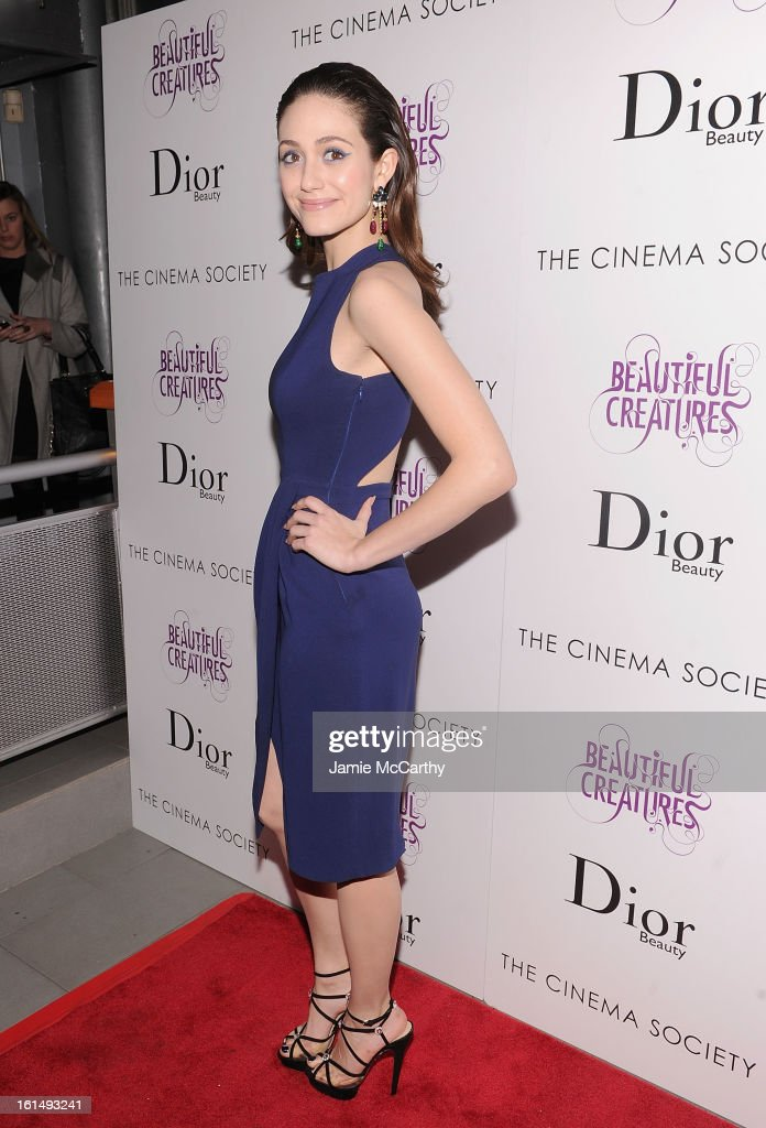 Actress Emmy Rossum attends The Cinema Society And Dior Beauty Presents A Screening Of 'Beautiful Creatures' at Tribeca Cinemas on February 11, 2013 in New York City.