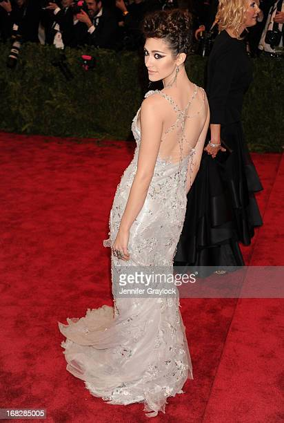 Actress Emmy Rossum attends the Costume Institute Gala for the 'PUNK Chaos to Couture' exhibition at the Metropolitan Museum of Art on May 6 2013 in...