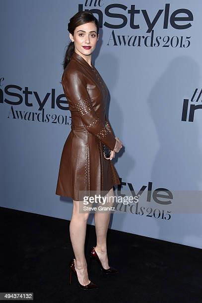 Actress Emmy Rossum attends the InStyle Awards at Getty Center on October 26 2015 in Los Angeles California