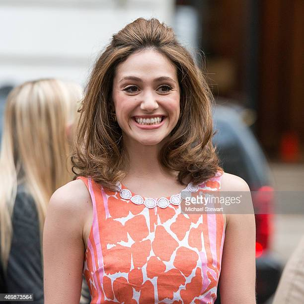 Actress Emmy Rossum attends the Lilly Pulitzer for Target Launch at Bryant Park Grill on April 15 2015 in New York City