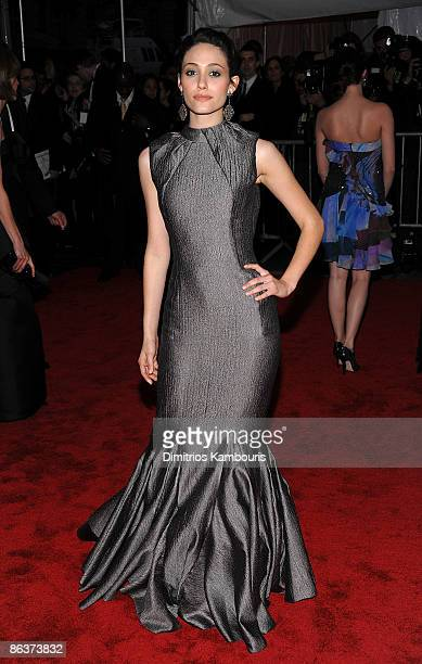 """Actress Emmy Rossum attends """"The Model as Muse: Embodying Fashion"""" Costume Institute Gala at The Metropolitan Museum of Art on May 4, 2009 in New..."""