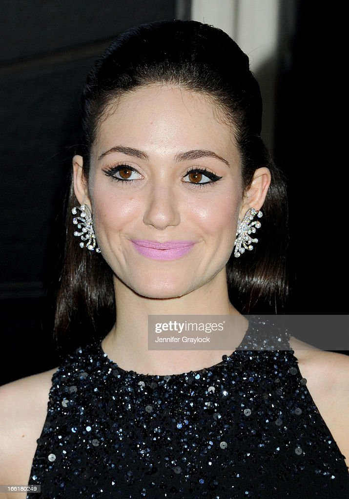 Actress Emmy Rossum attends the New Yorkers for Children 10th Anniversary Spring Dinner Dance New Year's in April: A Fool's Fete to benefit youth in foster care presented by Valentino at Mandarin Oriental Hotel on April 9, 2013 in New York City.