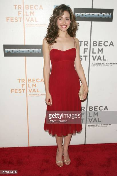 """Actress Emmy Rossum attends the """"Poseidon"""" premiere at the Tribeca Performing Arts Center May 6, 2006 in New York City."""