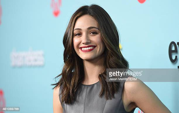 Actress Emmy Rossum attends the Showtime celebration of the allnew seasons of Shameless House Of Lies And Episodes at Cecconi's Restaurant on January...